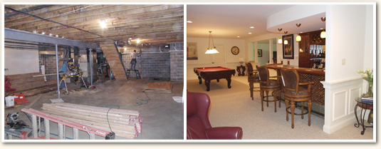 finished basement before and after. Basement Finishing Tips  Solutions