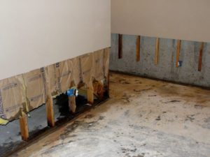 water damage fixed with waterproofing