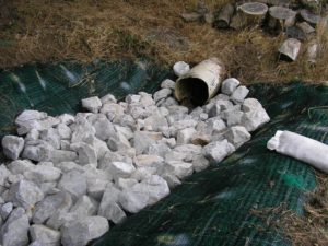 Drainage ditches for basement waterproofing